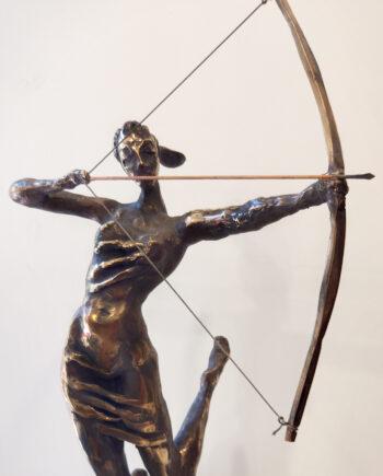 taunokangro, woman, bow, estonisnsculpture, woman, arrows, pose, nude