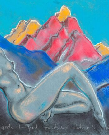 Akt, woman, womannude, Sayanmountains nude, leg, estonianartist, taunokangro, mountains,