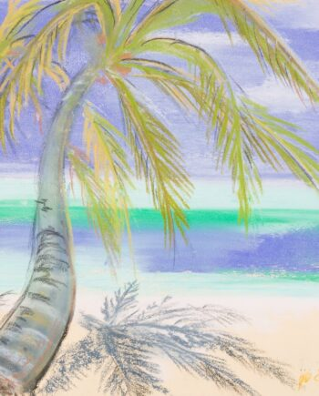 Maledives, seascape, blue, sea, estonianartist, taunokangro, pastel, natureart, landscapes