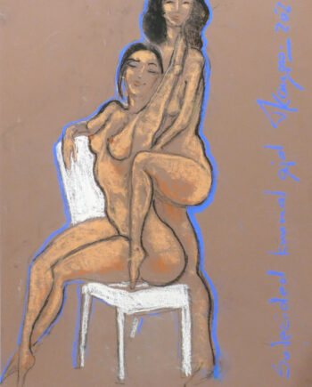 Akt, woman, womennude, nude, skirt, estonianartist, taunokangro, chair