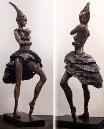 taunokangro, bronzesculpture, estonianartist, dancer, ballet, modernart, sculpture, blackmetal