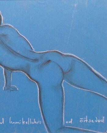 Akt, woman, pastellmaal, nude, estonianartist, taunokangro, orange, woman, pastell, taunokangro